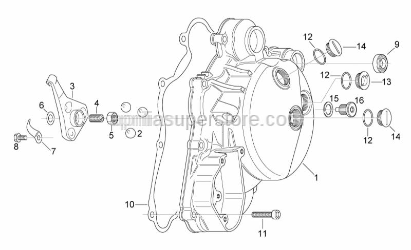Aprilia - Magnetic drain plug M12x1,5