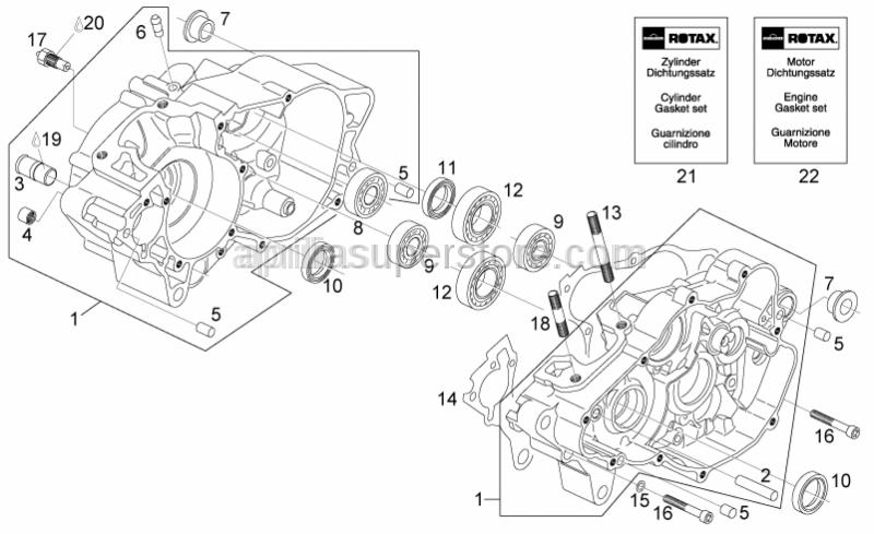 Aprilia - Cylinder set gasket