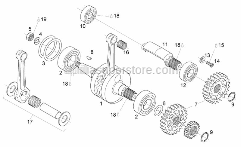 Aprilia - Ball bearing 6005