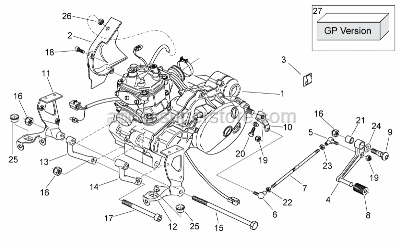Aprilia - Gearbox connecting rod