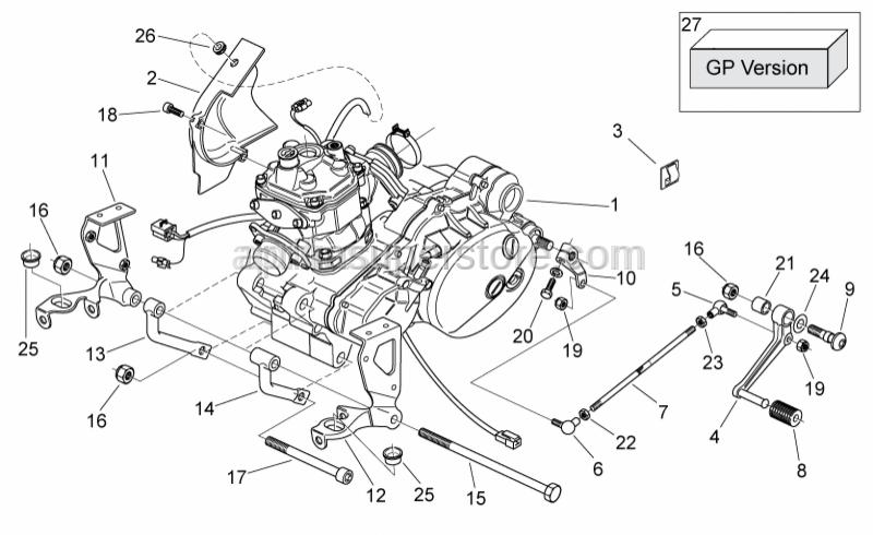 Aprilia - Hex socket screw M10X120