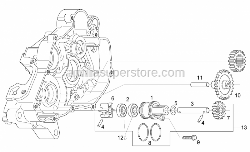 Aprilia - Water pump casing
