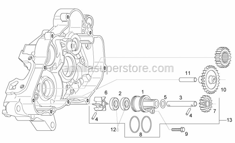 Aprilia - Idle gear Z=28/13