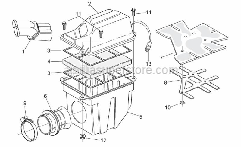 Aprilia - Filter housing insulator
