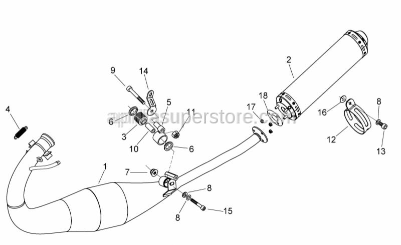 Aprilia - Exhaust pipe support