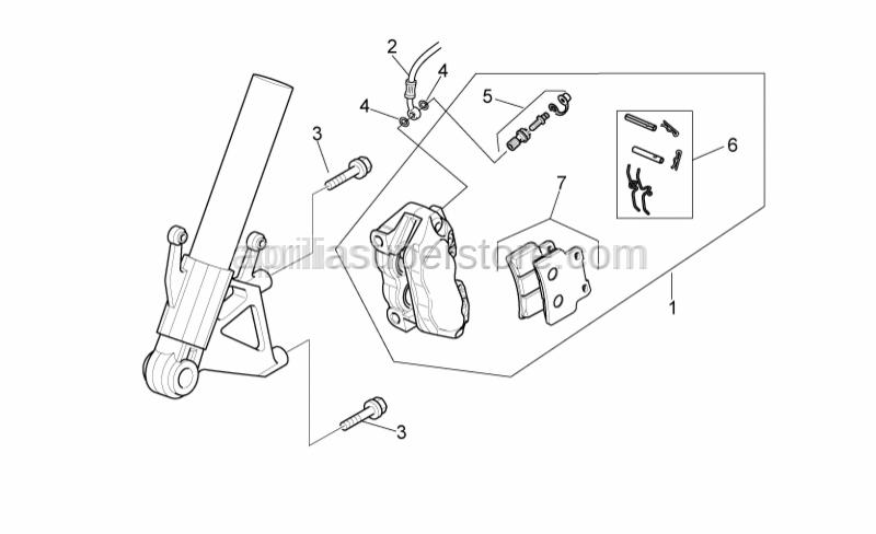 Aprilia - Screw w/ flange M10x55