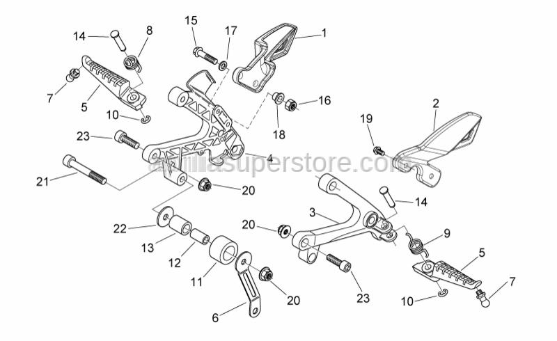Aprilia - Hex socket screw M8x70