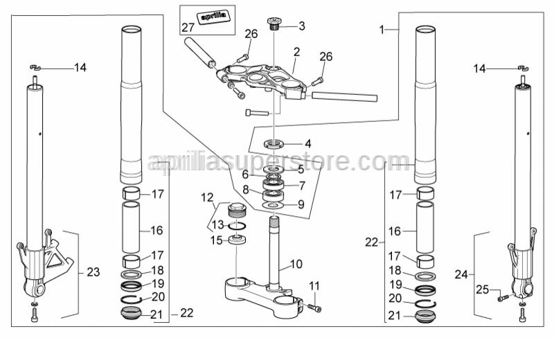Aprilia - dust cover for fork tube