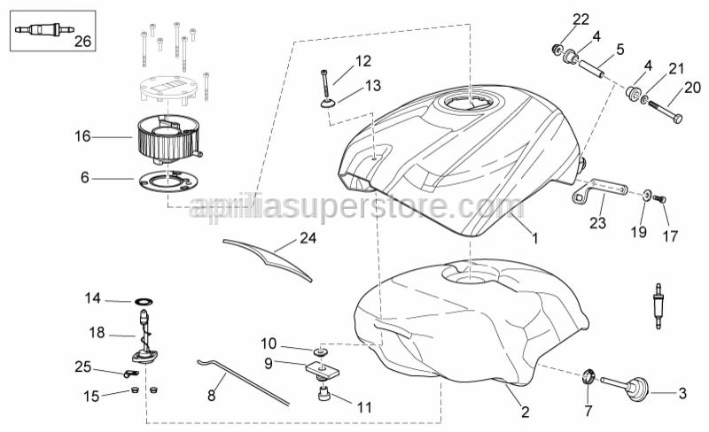 Aprilia - Rear spacer