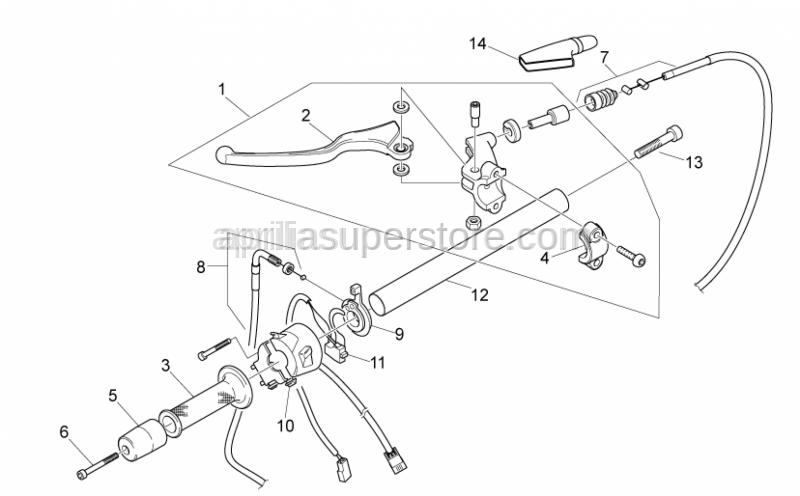 Aprilia - Clutch lever U-bolt