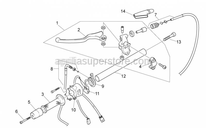 Aprilia - Clutch adjuster sleeve