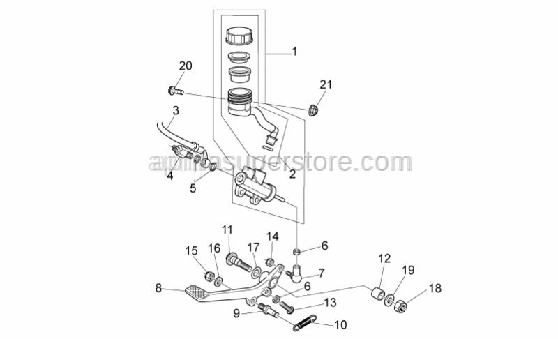 Aprilia - Brake light switch