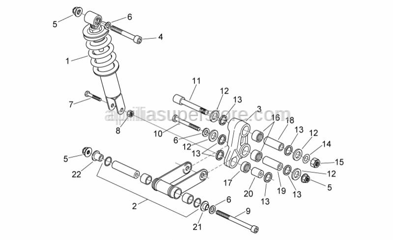 Aprilia - Hex socket screw M12x78.5