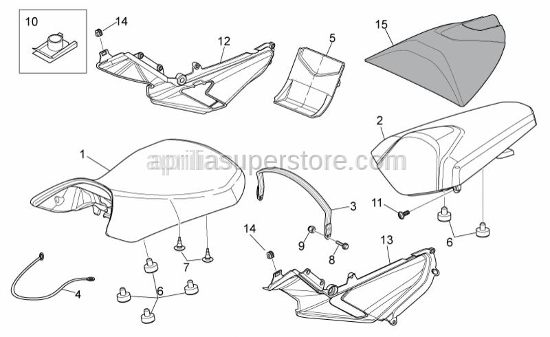 Aprilia - Pillion seat strap, black