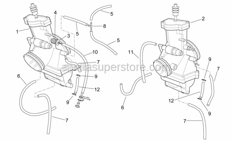 Aprilia - Carburettor RH
