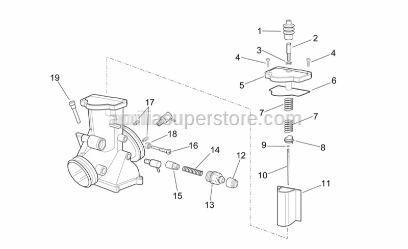 Aprilia - Adjuster screw LH