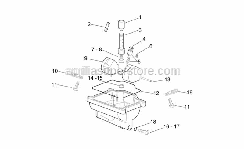 Aprilia - Needle valve 0-8