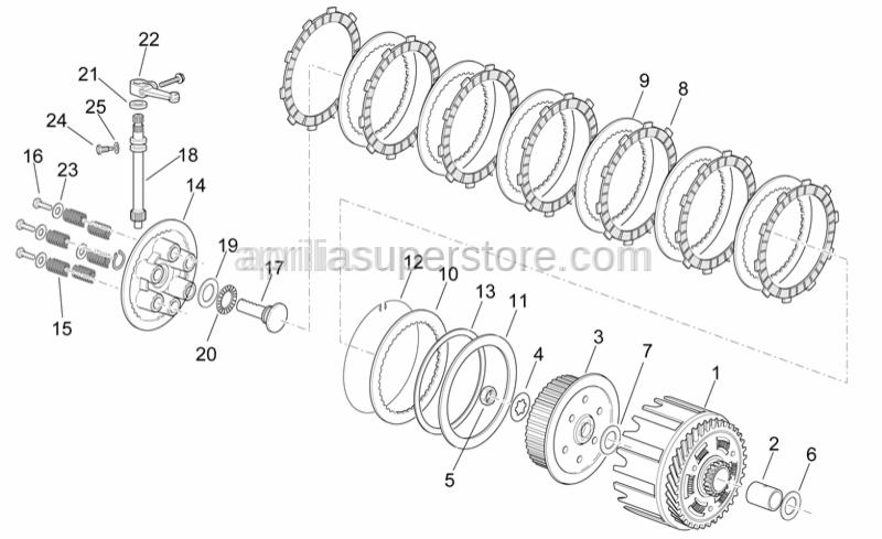 Aprilia - Elastic clutch plate ring