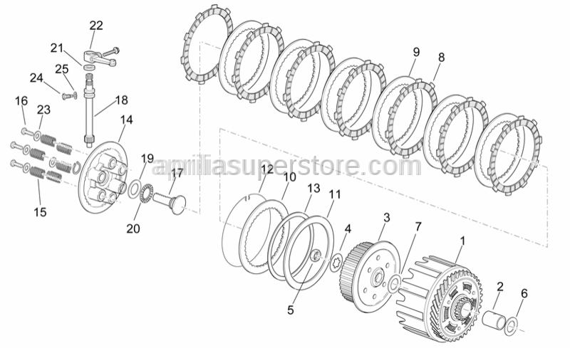 Aprilia - Elastic clutch plate