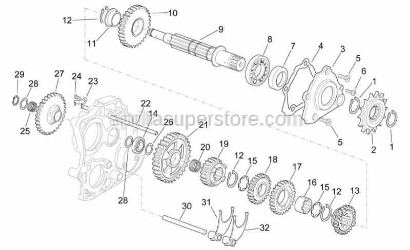 Aprilia - Trans.starter gear z=33