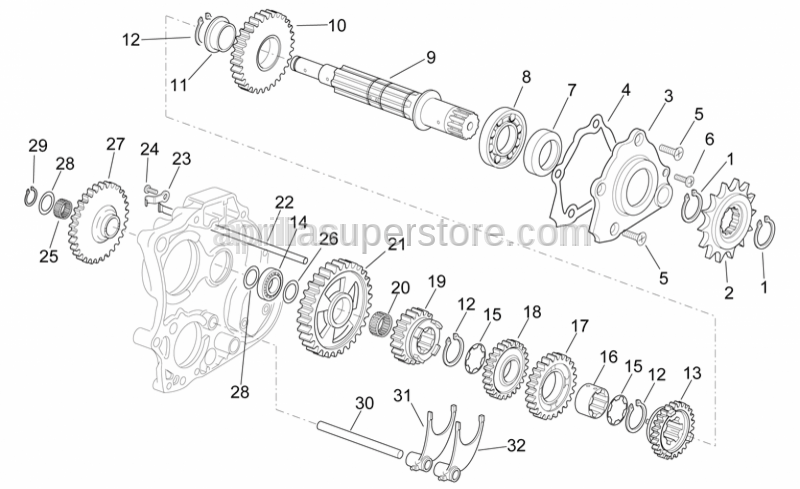 Aprilia - Fork shaft