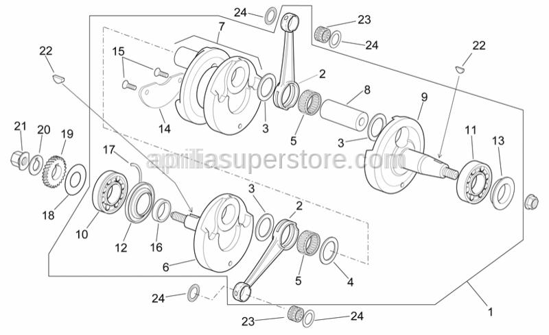 Aprilia - Crankshaft/LH part