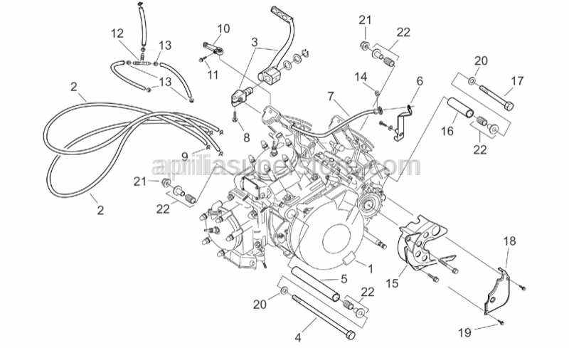 Aprilia - Silent-block lower attachment