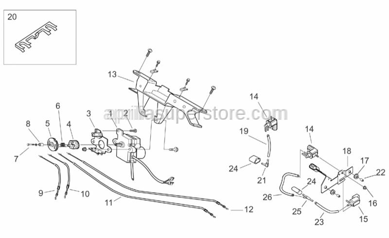 Aprilia - Rear cylinder valve fastener