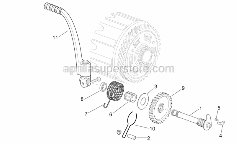 Aprilia - Kick starter gear z=34