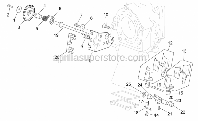 Aprilia - Exhaust valve pulley spacer