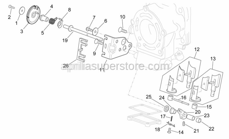 Aprilia - Exhaust valve cable plate