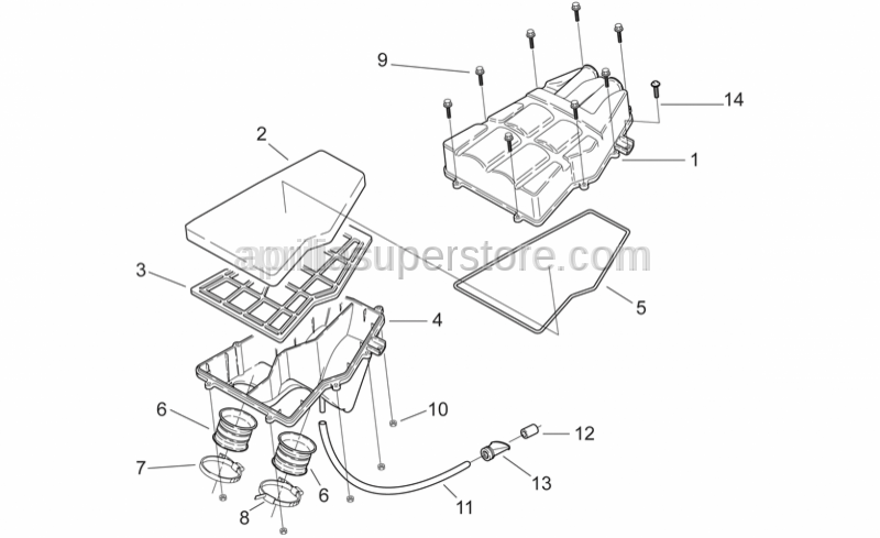 Aprilia - Air filter housing seal