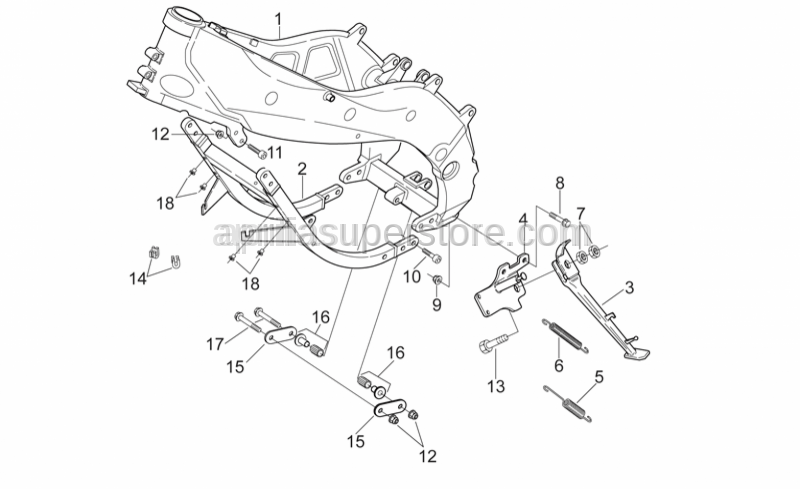 Aprilia - Eng. connecting plate