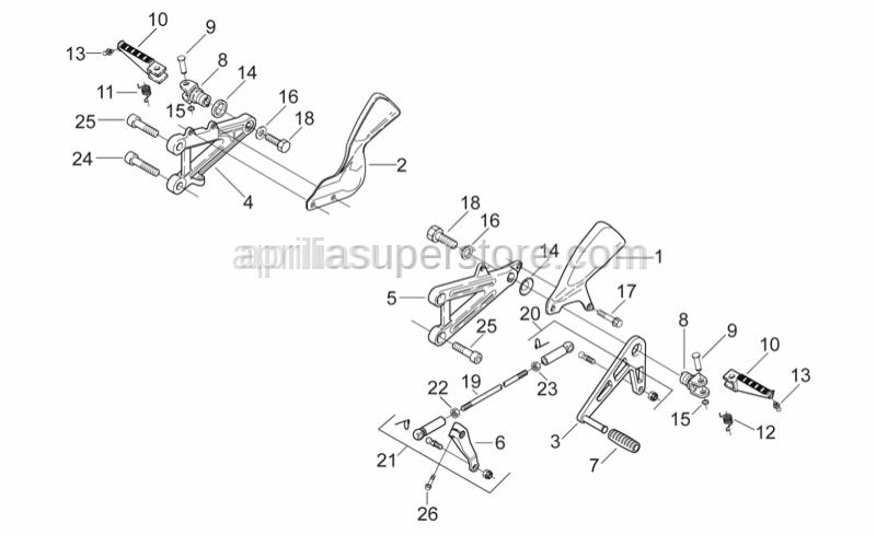 Aprilia - Brake/gear lever pin