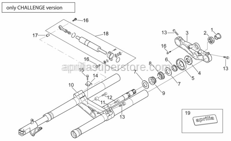 Aprilia - Brake pipe fixing plate