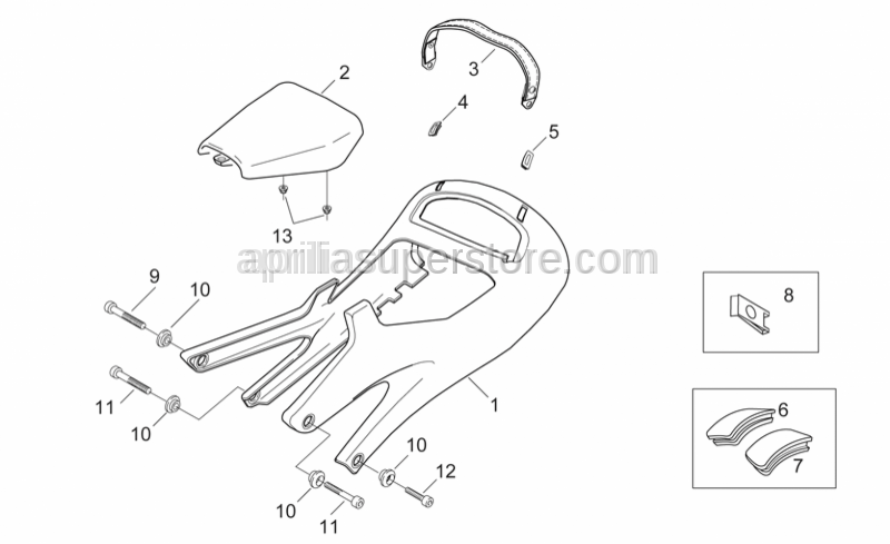 Aprilia - RH seat strap plug