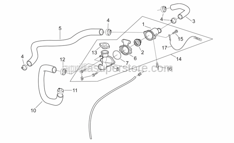Aprilia - Ground-thermostat lead