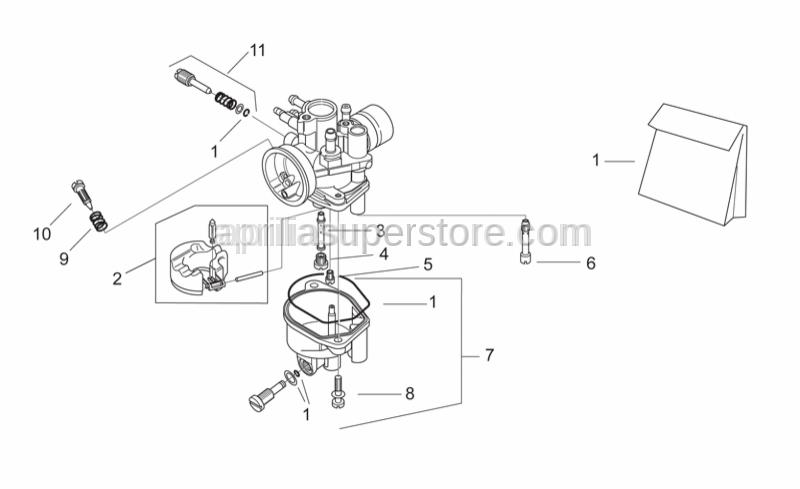 Aprilia - Adj.min.eng.speed air screw