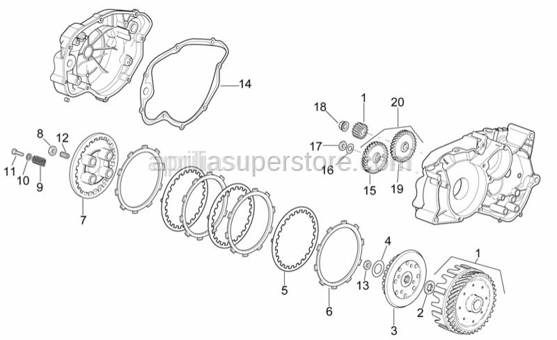 Aprilia - Adjuster screw M14x1,25
