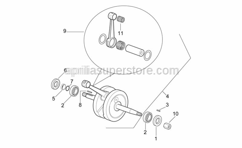 Aprilia - Transmission key 4x4x20