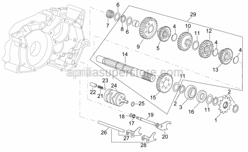 Aprilia - Intermediate gear Z=12