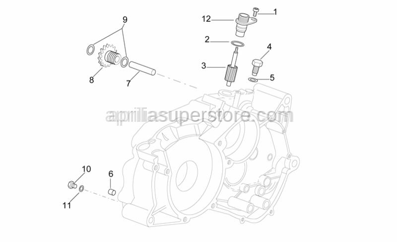 Aprilia - Tachometer ouput flange