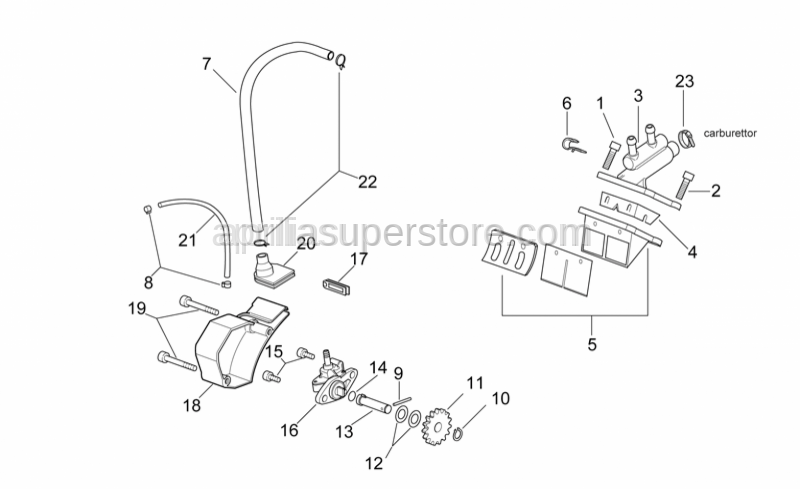 Aprilia - Reed valve fix.plate