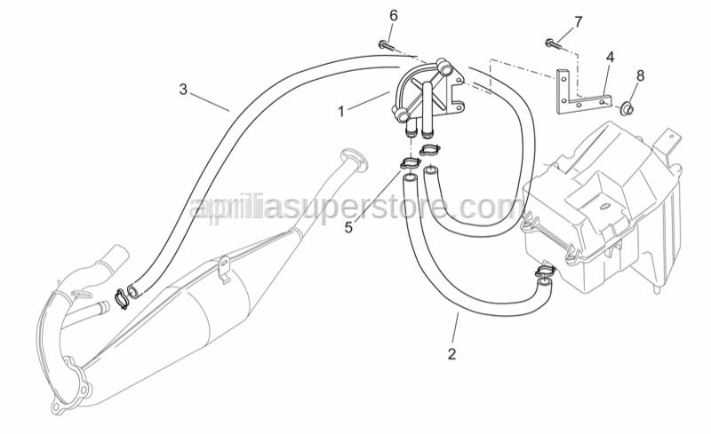 Aprilia - Intake pipe sas