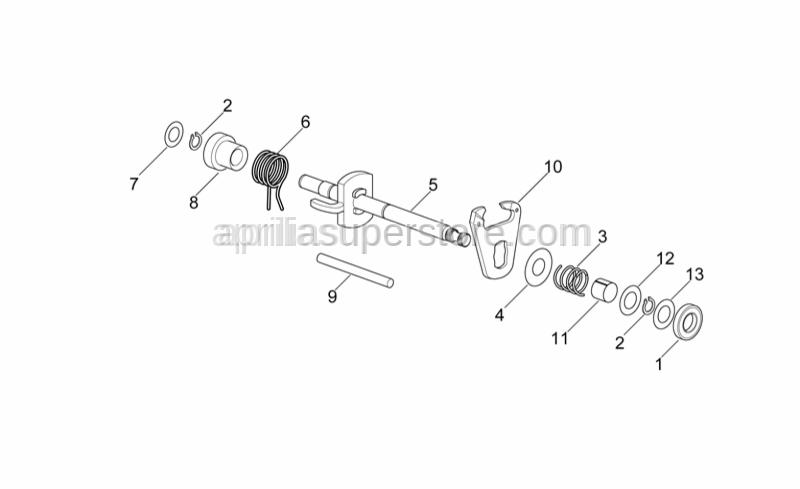 Aprilia - Gear selector fork pins