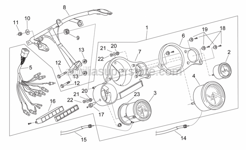 Aprilia - Instrum.holder frame