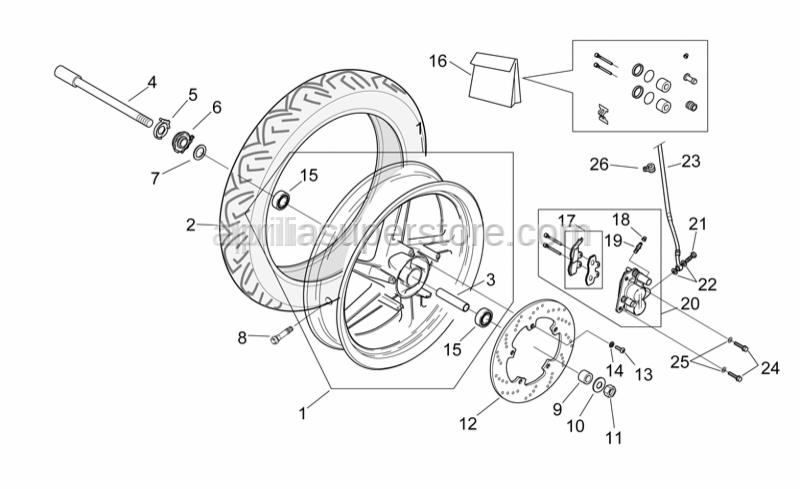 Aprilia - Front brake disc