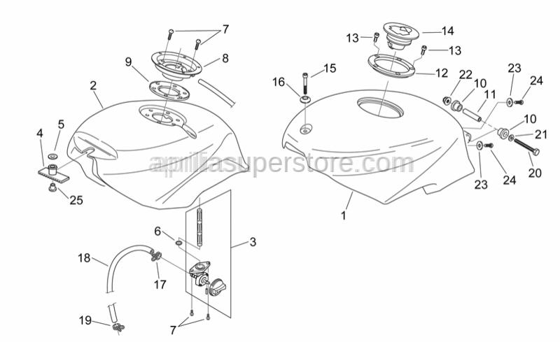 Aprilia - Hex socket screw M6x15*