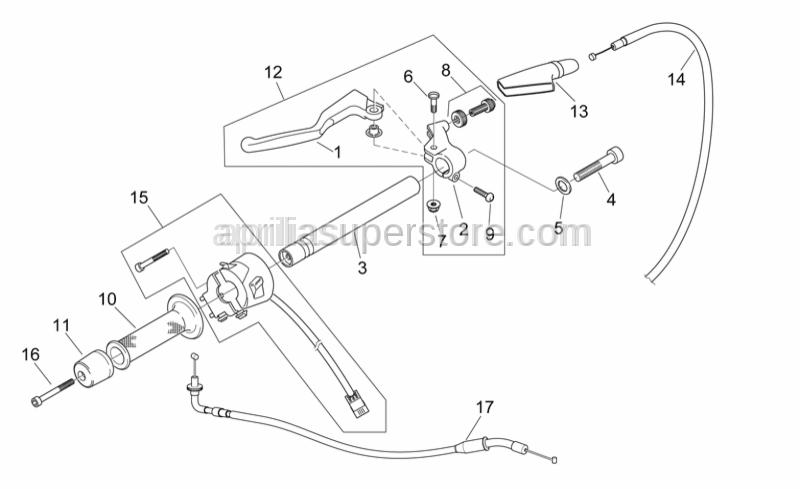 Aprilia - Clutch lever adjuster