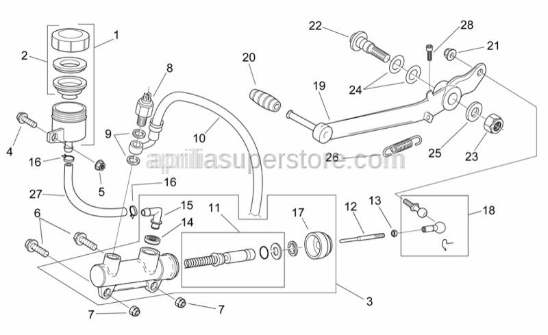 Aprilia - Rear brake pump cradle